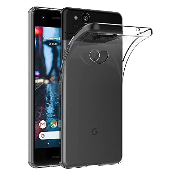 factory authentic 379ba 70294 Google Pixel 2 Case, Skmy Soft TPU Case Crystal Transparent Slim Anti Slip  Case Back Protector Case Cover for Google Pixel 2 (Clear)