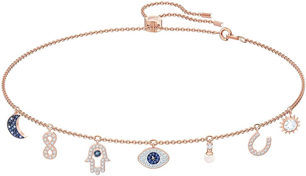 Swarovski Swa Symbolic Necklace Charms Multi-Colored Rose Gold Plated