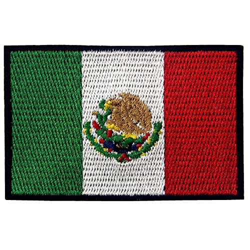 mexico flag embroidered patch mexican