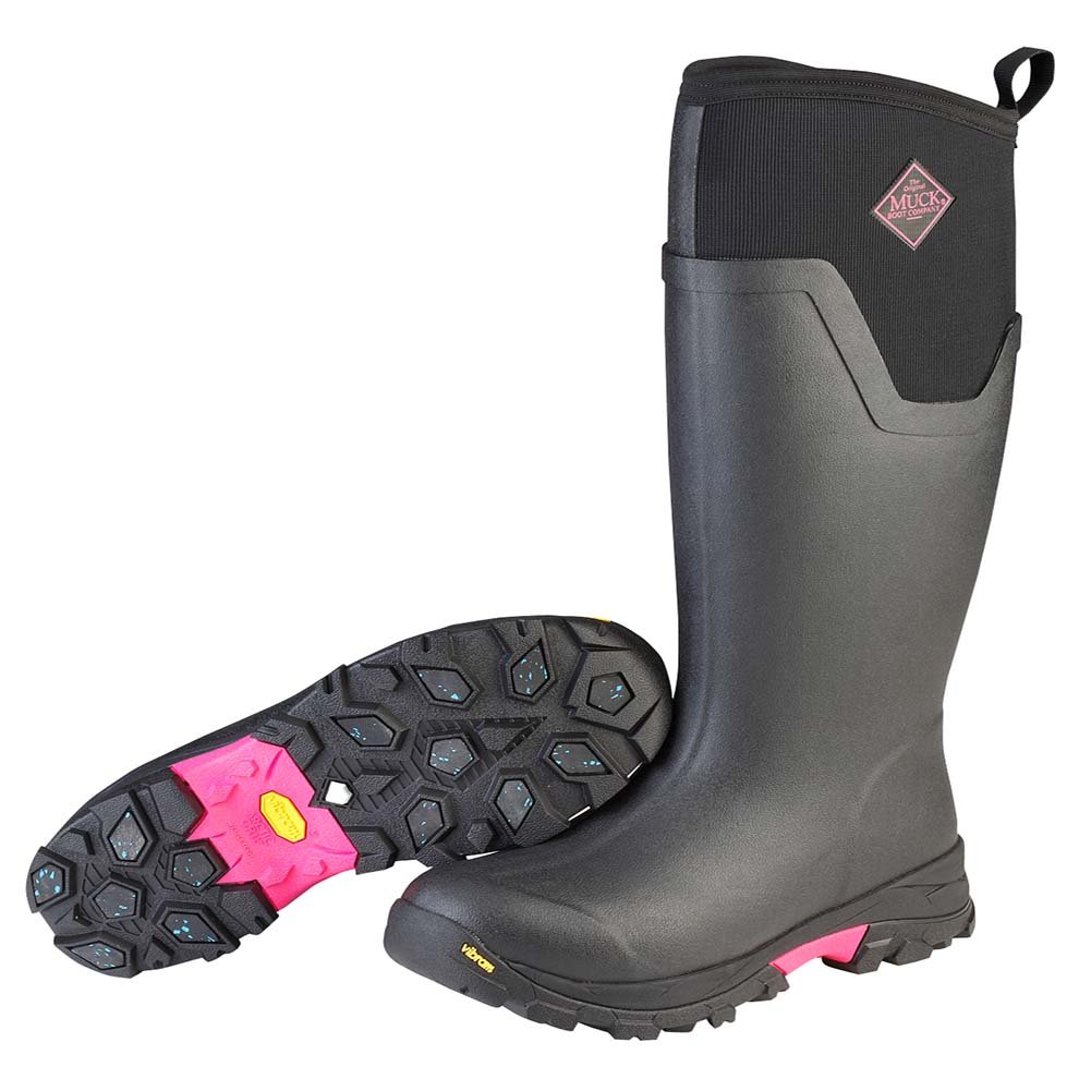 Muck Boot Women's Arctic Ice Tall Work Boot, Black/Hot Pink, 9 M US by Muck Boot