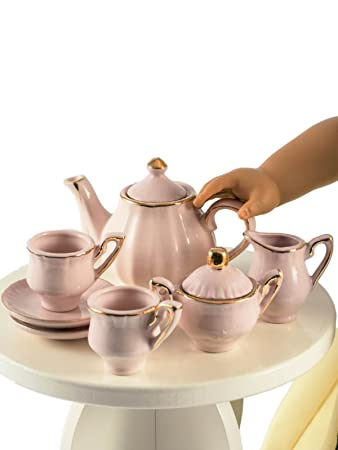 18 inch doll tea porcelain play food teaset complete 9 pc set perfect for