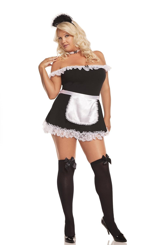 sc 1 st  Amazon.com & Amazon.com: Elegant Moments Womenu0027s Plus-Size Sexy Maid: Clothing