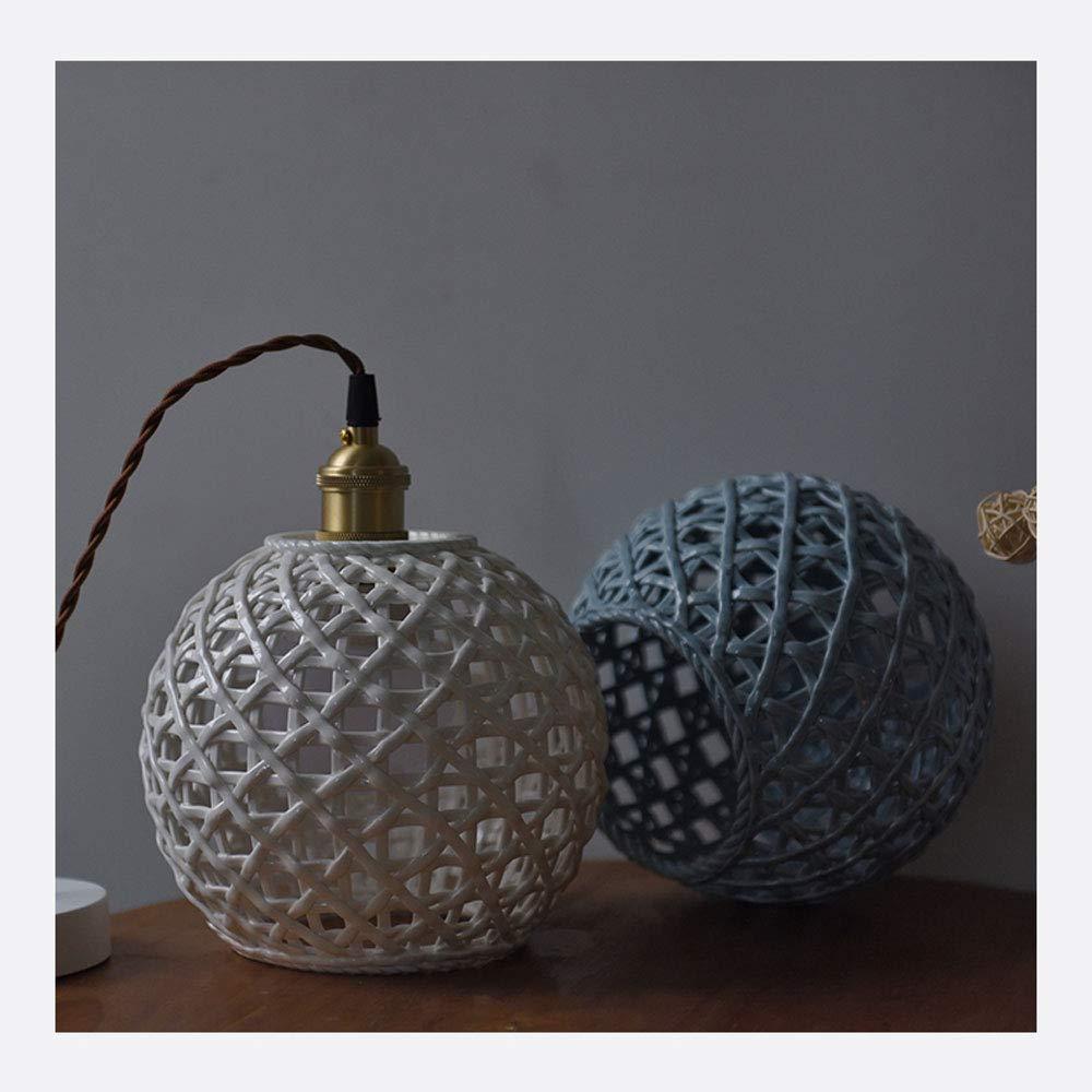 Amazon.com: Lámpara de techo Nordic hecha a mano de cerámica ...