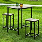 Haotian Sling High Bistro Set ,Home Kitchen Outdoor Garden Bar Set,Patio Furniture, Dining Set (OGT10-N)