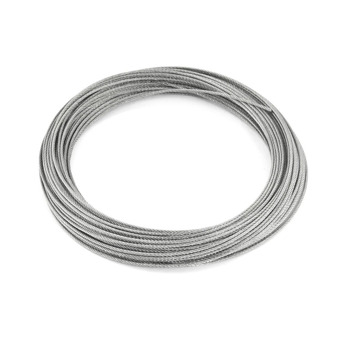 sourcing map Stainless Steel Wire Rope Cable 1mm 0.04 inch Dia 32.8ft 10m Length 19 Gauge 304 Grade for Hoist Lifting Grinder Pulley Wheel
