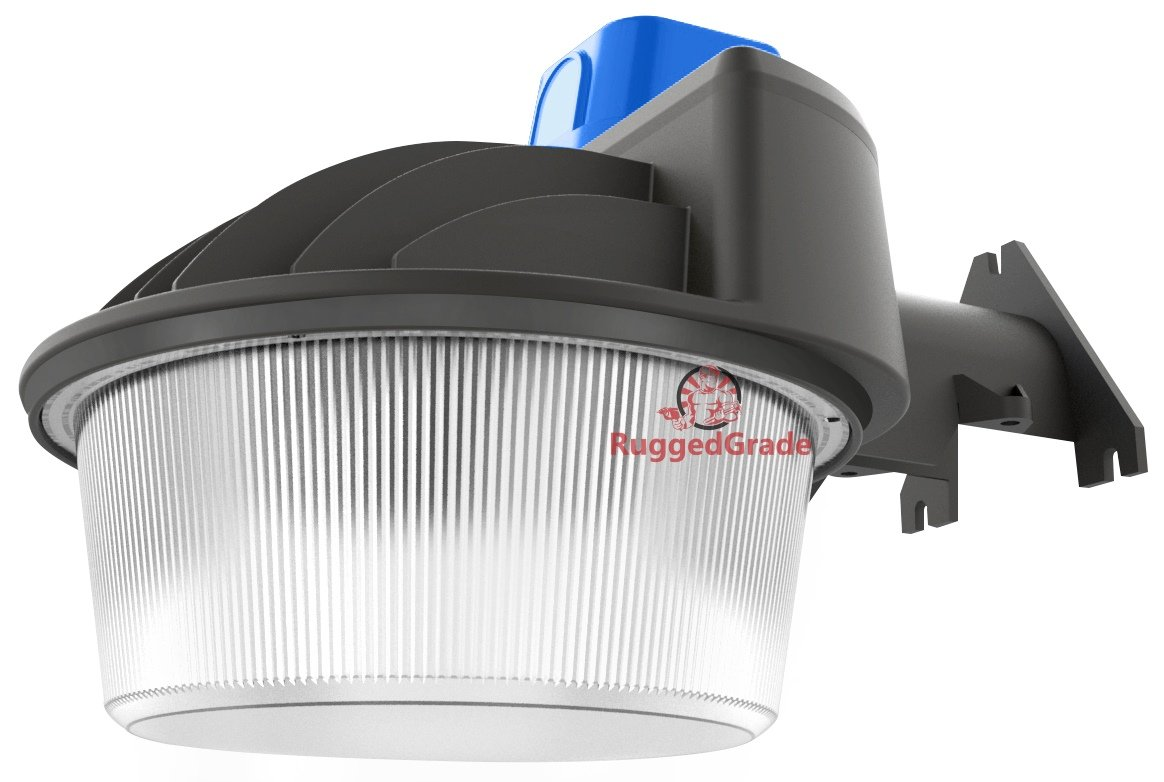 9800 Lumens - 80 watt -With Photocell - Barn Style LED uses only 80watts -Replaces 250w HID/Metal Halide -With Dusk to Dawn Photocell - Outdoor wall light - 5000K - LED Security Light