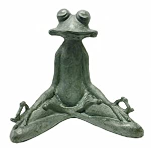 SPI Home 50793 Contented Yoga Frog Garden Sculpture