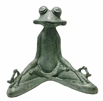 contented frog yoga frog statue