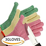 CHYDA 3 Pack Cut Resistant Gloves High