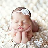 PePeng Newborn Photography Props, Use Soft 3D Rose Flower Backdrop Beanbag Rug to Create Memorable Kids Portrait Photography (White)