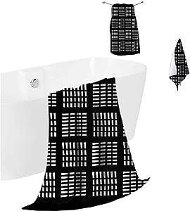 prunushome Hotel Bath Towels Abstract Premium & Luxury Towel Set Dash Line Skyscraper Urban for Bathroom-Hotel-Spa-Kitchen 3 Piece Towels Set (Bath Towels,Hand Towels,Washcloths)