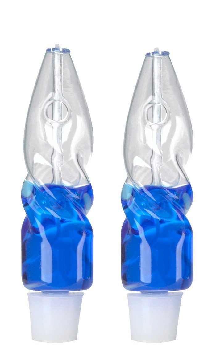 Bright Lights Shabbat Twisted Clear Glass Paraffin Oil Lamps, Set of 2 by Bright Lights