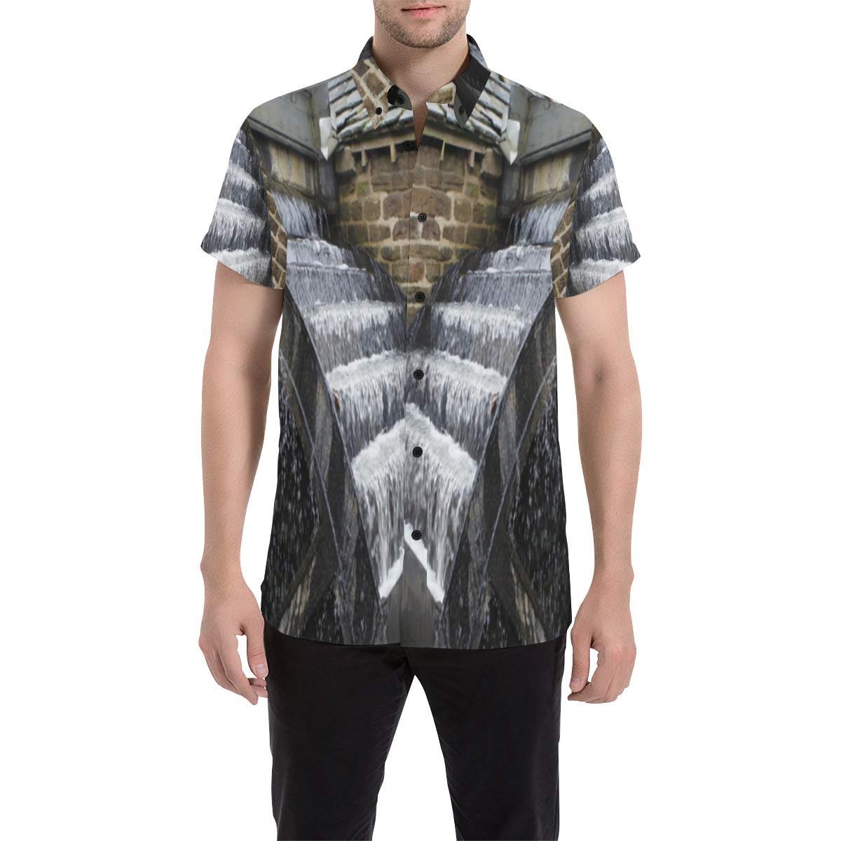 BrowneOLp Wheel Canvas Print Mens All Over Print Short Sleeve Shirt