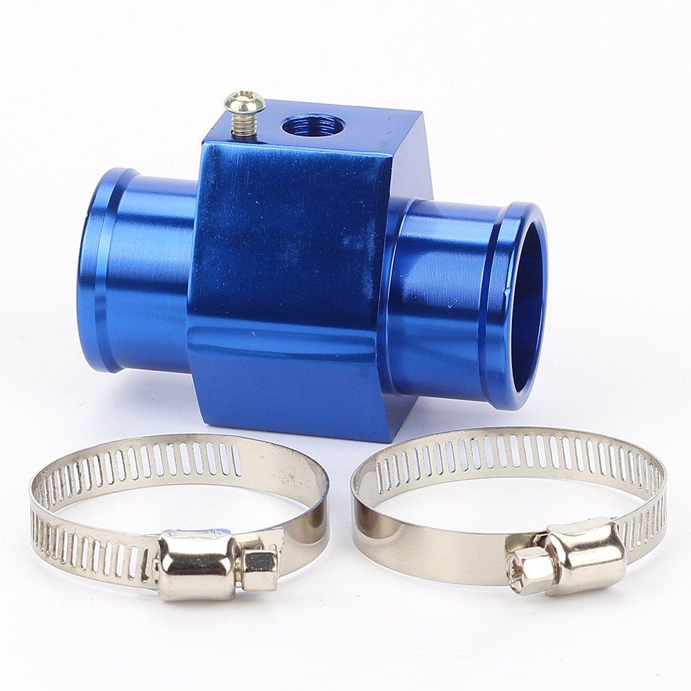 ATVATP 32MM Blue Water Temp Temperature Joint Pipe Sensor Gauge Radiator Hose Adapter
