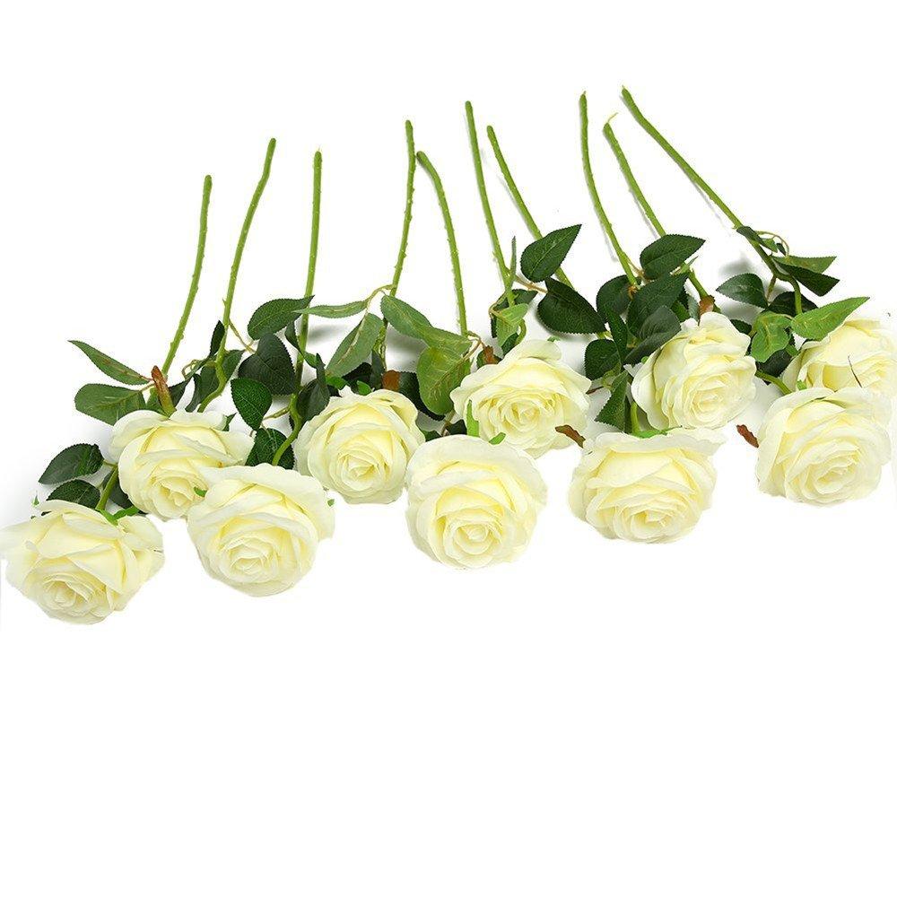 Duan123's ultima 10PC fiore artificiale floreale bouquet da sposa decorazione del partito, adatto per la decorazione festa di matrimonio, famiglia e giardino decorazione, ufficio, caffè (colore misto) ( Color : A ) YUNGUANG