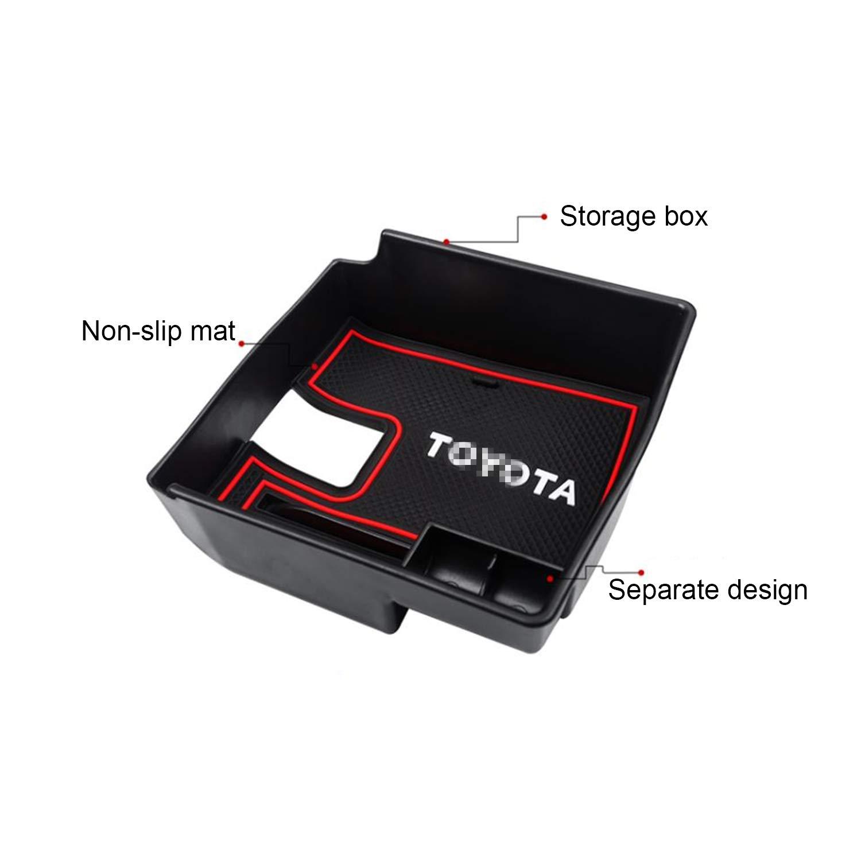 RUIYA Consola Central con reposabrazos Personalizada para 2019 2020 Toyota Corolla E210 Organizador de Consola Bandeja de inserci/ón Accesorio para el autom/óvil Bandeja de Almacenamiento Rojo