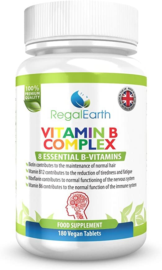 La vitamina del complejo B - 8 vitaminas esenciales, 6 Meses complementar el suministro: Amazon.es: Electrónica
