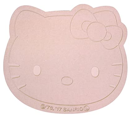 Morimoto Hello Kitty Die Cut Keisodo Bath Mat Diatomaceous Earth