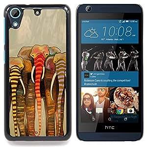 For HTC Desire 626 & 626s - Africa beige art painting /Modelo de la piel protectora de la cubierta del caso/ - Super Marley Shop -