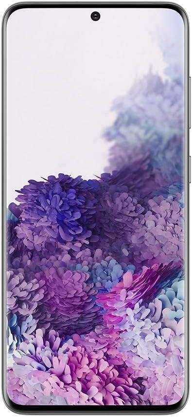 Samsung Galaxy S20 - Smartphone Portable débloqué 4G (Ecran: 6,2 pouces - 128 Go - Double Nano-SIM - Android) - Gris - Version Française - Avec BON d'ACHAT AMAZON