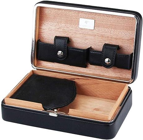 Cajas y dispensadores Humidificador De 4 Palos Humidificador Portátil Caja De Puros Humidor De Puros De Cedro Humidor De Puros De Viaje Regalo (Color : Black, Size : 12.3 * 19 * 6.4cm): Amazon.es: Hogar