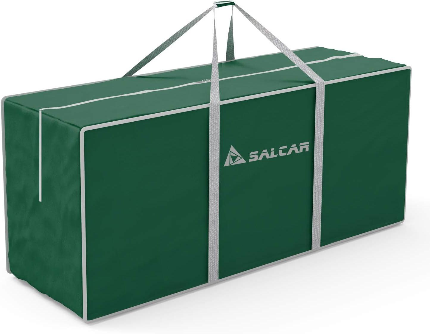 SALCAR Bolsa de Almacenamiento Grande para árbol de Navidad, 130 x 40 x 50 cm. Bolsa de Almacenamiento de Viaje de Gran tamaño,usada para almacenar árboles de Navidad, Ropa, Juguetes - Verde