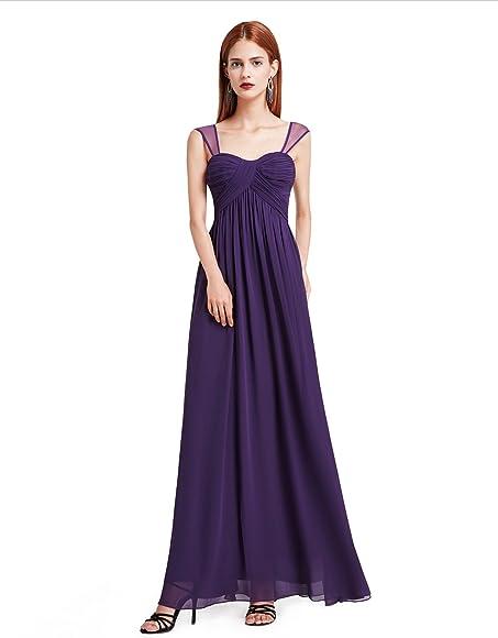 95a13acde86b Ever-Pretty Womens Long Bridesmaids Dress with Sweetheart Neckline 04 US  Dark Purple