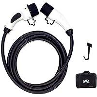 MAX GREEN VE / Cable de carga para coches eléctricos, Tipo 2 a Tipo 2, 16Amp/32Amp, 17 pies(5 metros)