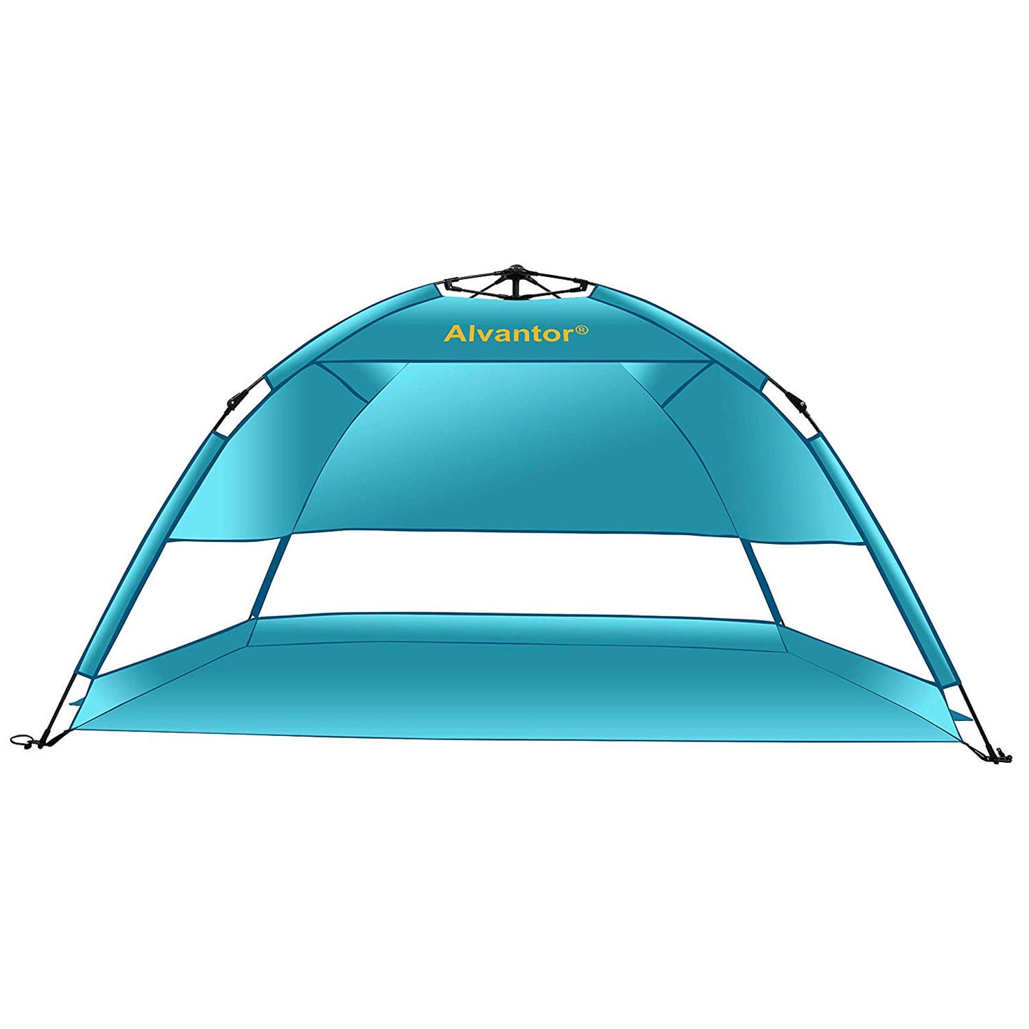 Alvantor Beach Tent Coolhut Plus Beach Umbrella Sun Shelter Cabana Automatic Pop Up UPF 50 Sun Shade Portable Camping Hiking Canopy Easy Set Up Light Weight Windproof Stable 2-3 Person by Alvantor
