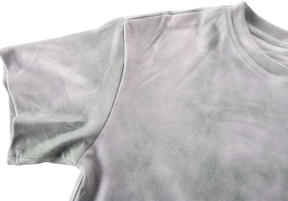 kayamiya Women Pajamas Set Tie Dye Printed Short Sleeve Shirt and Pants PJ Sets Sleepwear Nightwear Loungewear