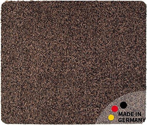 Fußmatte Teppich Läufer Baumwolle Uni farbig / einfarbig braun 50x60 cm rutschfest maschinenwaschbar