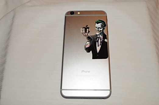 Amazon com mini joker decal for iphone 6 plus 5 5 screen glossy vinyl sticker cell phones accessories