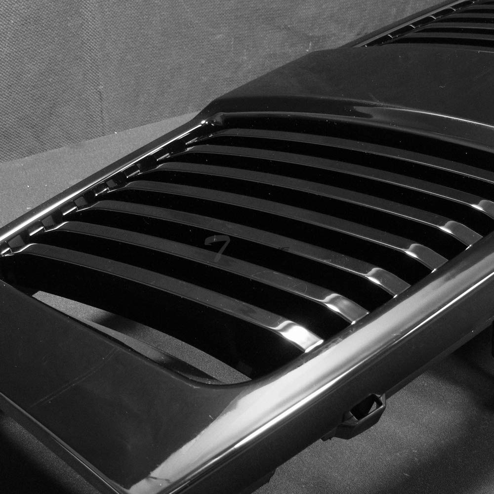 Topline Autopart Black Vertical Front Hood Bumper Grill Grille ABS For 04-07 Nissan Titan 04//05-07 Armada
