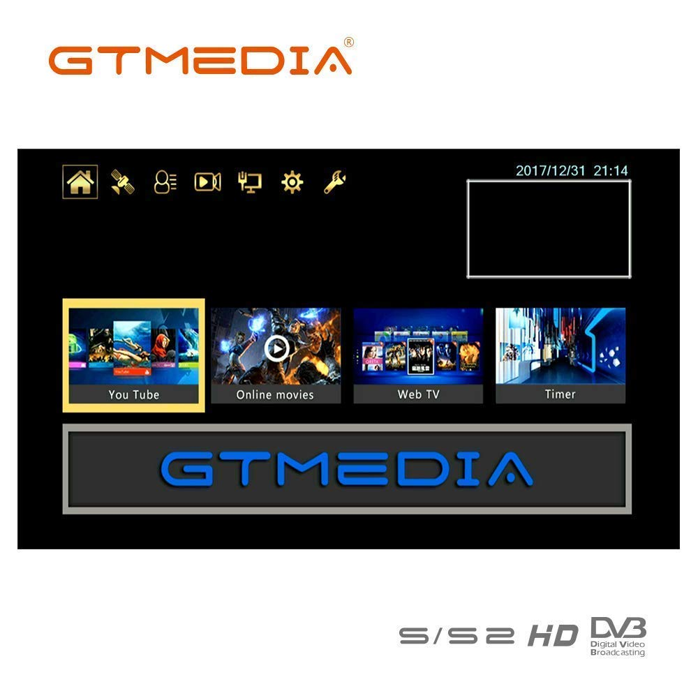 GTMEDIA V9 Full HD DVB-S2 Freesat Satellite Receiver H.265 Built-in WiFi TV Box Support PowerVu, DRE & Biss Key, DLNA, SAT to IP,Unicable,Satellite EPG by Vmade we made, well-made (Image #3)