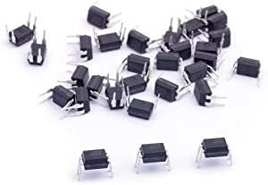 Cylewet 30Pcs Optocoupler PC817C 2.54mm Pitch 4 Pins DIP-4 Mounting Photo Coupler for Arduino (Pack of 30) CYT1056
