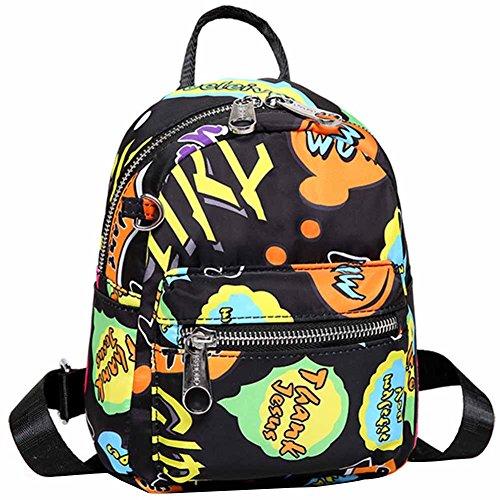 Three Small Print Handbag Stlye Women Shoulder Backpck For and Girls 3 Nylon Waterproof HADM backpacks Backping Cute wIqB1x6