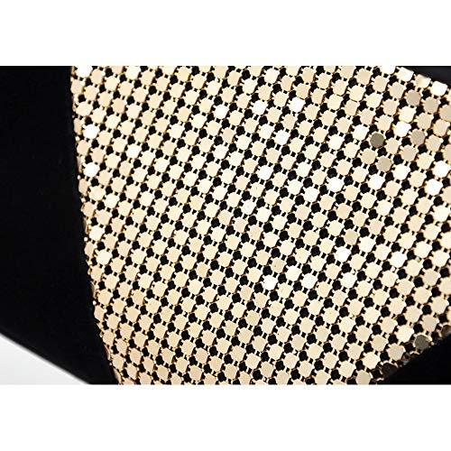 de Feuille Main Femmes en Mariage à Noir d'or Sacs pour Sacs avec Les à de de fête Velours Aluminium Lovely Main Doux embrayages rabbit de soirée Sacs Élégant 6Ipxa
