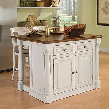 Amazon.com - Home Styles Monarch 3 Piece Kitchen Island & Stool Set ...