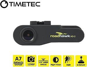 Timetec Road Hawk Car Driving Recorder 2K Super HD Car Vehicle Road Traffic Accident/Incident Dash Windshield Dashboard Video Audio Camera Recorder Camcorder DVR System(New Version Sep 2019)