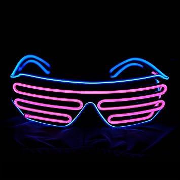 EL Draht Leuchten Gläsern NHsunray LED Sound Aktiviert Beleuchtet ...