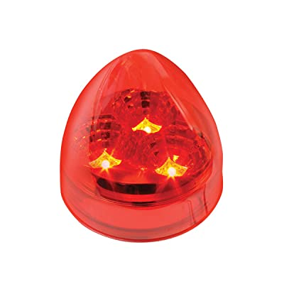 "GG Grand General 77692 Red/Red LED Light (2.5"" Spyder Beehive 3, Lens): Automotive [5Bkhe0900697]"