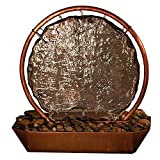 Sunnydaze Moonrise Copper and Slate Tabletop Fountain, 18'' Tall