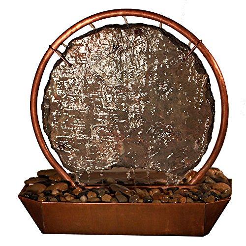 Sunnydaze Moonrise Copper and Slate Tabletop Fountain, 18