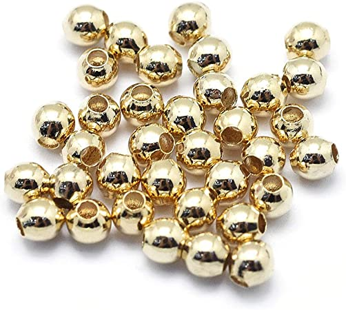 Fine 1 Pcs 18K Solid Gold Hand Made 9 mm Round Ball Bead.