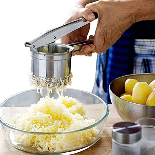 Stainless Steel Smooth Potato Mash Ricer Hand Held Masher Vegetable Mincer Puree