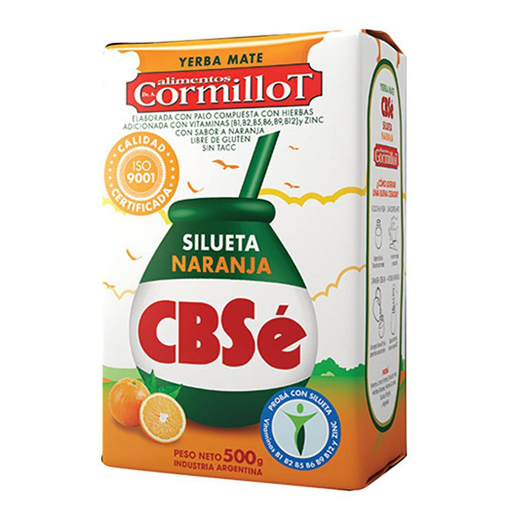 Amazon.com : CBSe Yerba Mate Silueta Naranja (Orange) 500g : Grocery & Gourmet Food
