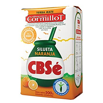 CBSe Yerba Mate Silueta Naranja (Orange) 500g