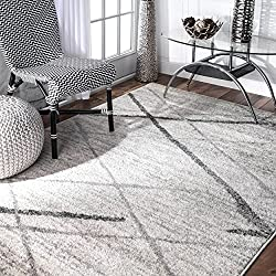"nuLOOM Contemporary Thigpen Area Rug, 7' 6"" x 9' 6"", Grey"