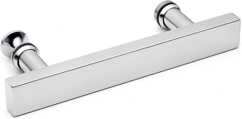 SHOWER BATH DOOR HANDLE// Stainless Steel Chromed 14.5CM holes apart 145mm L-2 by Shower Part