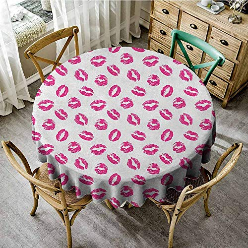 - Anti-wrinkle antifouling fabric round tablecloth 55